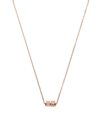 gold grande tone pendant brent jeweller pyramid weatherall products michael necklace rose kors