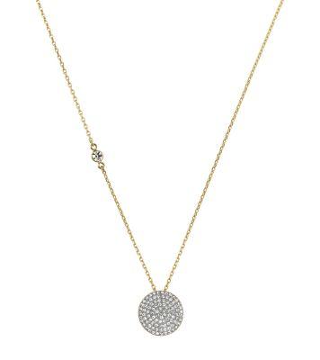 Pav pendant necklace michael kors mozeypictures Image collections