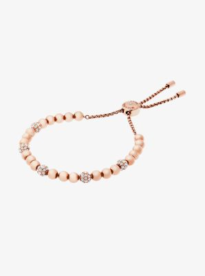 Rose Goldtone Slider Bracelet Michael Kors