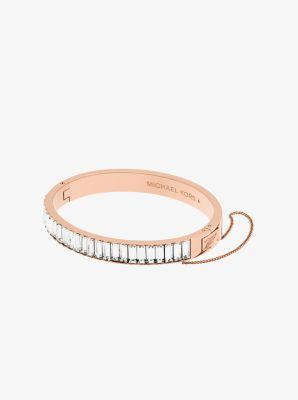 Rose Goldtone Baguette Bracelet Michael Kors