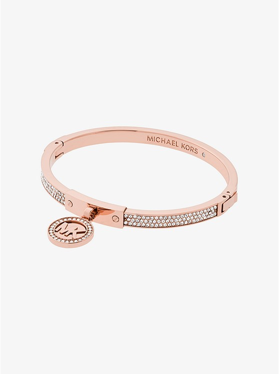 Fulton Pavé Rose Gold-Tone Hinge Bangle