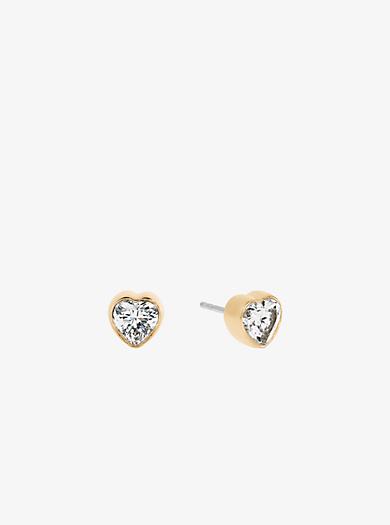 Gold-Tone Heart Stud Earrings. michael kors ...