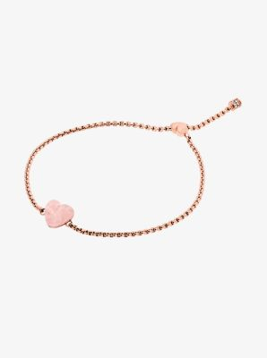 Rose GoldTone Heart Slider Bracelet Michael Kors