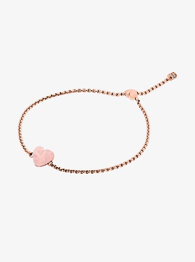 Rose Gold-Tone Heart Slider Bracelet. michael kors \u0026middot; Rose Gold-Tone ...