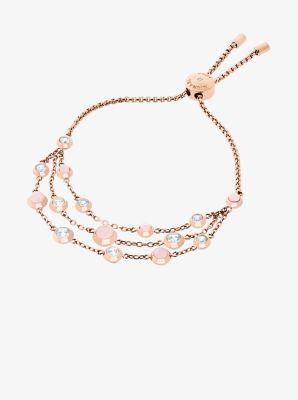 Rose Goldtone Multistrand Bracelet Michael Kors