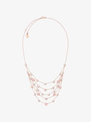 Rose Goldtone Multistrand Necklace Michael Kors