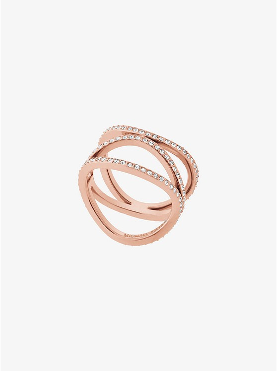 Pavé Rose Gold-Tone Ring