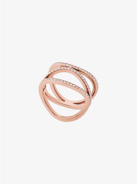 Pavé Rose Gold-Tone Ring
