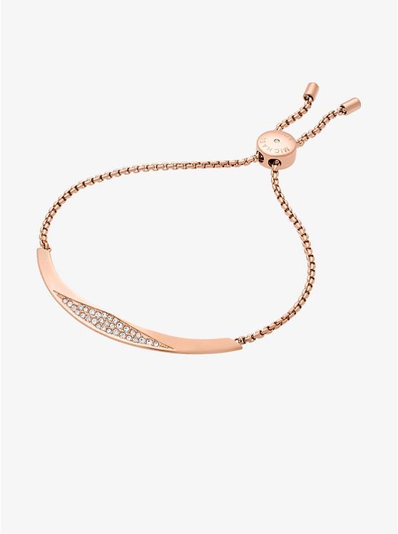 Pavé Rose Gold-Tone Slider Bracelet
