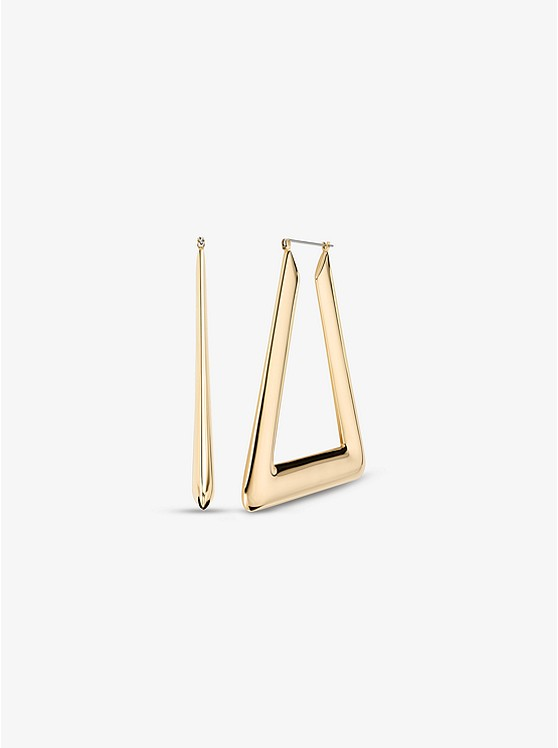 Triangle Hoop Earrings by Michael Kors