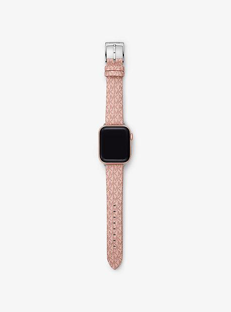 마이클 코어스 Michael Kors Logo Strap For Apple Watch,PINK