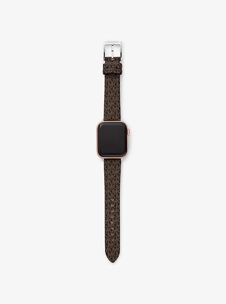 마이클 코어스 Michael Kors Logo Strap For Apple Watch,BROWN