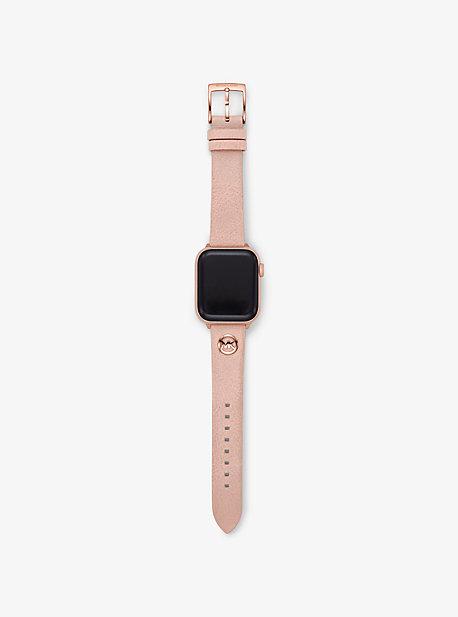 마이클 코어스 Michael Kors Leather Strap For Apple Watch,PINK