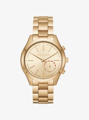 9331e5e696da Slim Runway Gold-Tone Hybrid Smartwatch