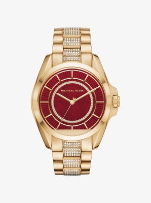 71af8eed2f1 ... RELÓGIO MICHAEL KORS MK6197 Bradshaw Gold-Tone Smartwatch Michael Kors  ...