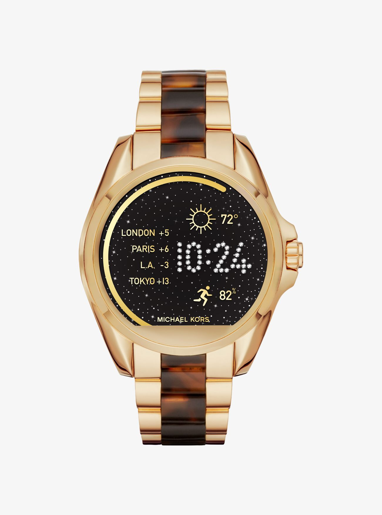 bradshaw gold tone and acetate smartwatch michael kors. Black Bedroom Furniture Sets. Home Design Ideas