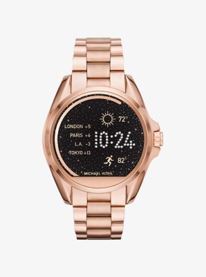 bradshaw rose gold tone smartwatch michael kors