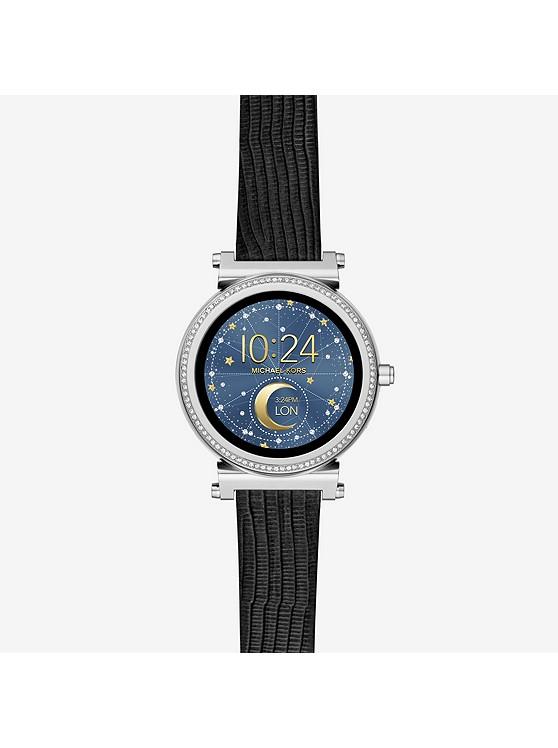 9291c9fb2d34 Reloj Inteligente Sofie En Tono Plateado Con Incrustaciones ...
