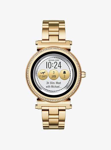 c4cc49cba2f55 Sofie Pavé Gold-tone Smartwatch