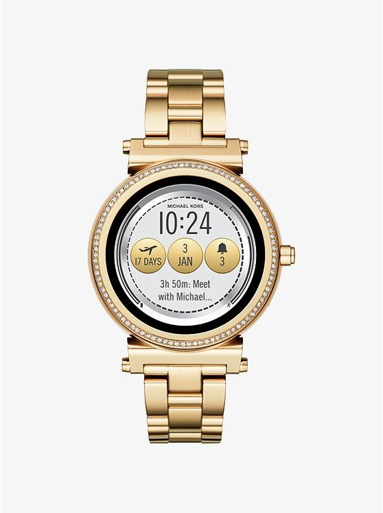 852bc6be267c Sofie Pavé Gold-tone Smartwatch