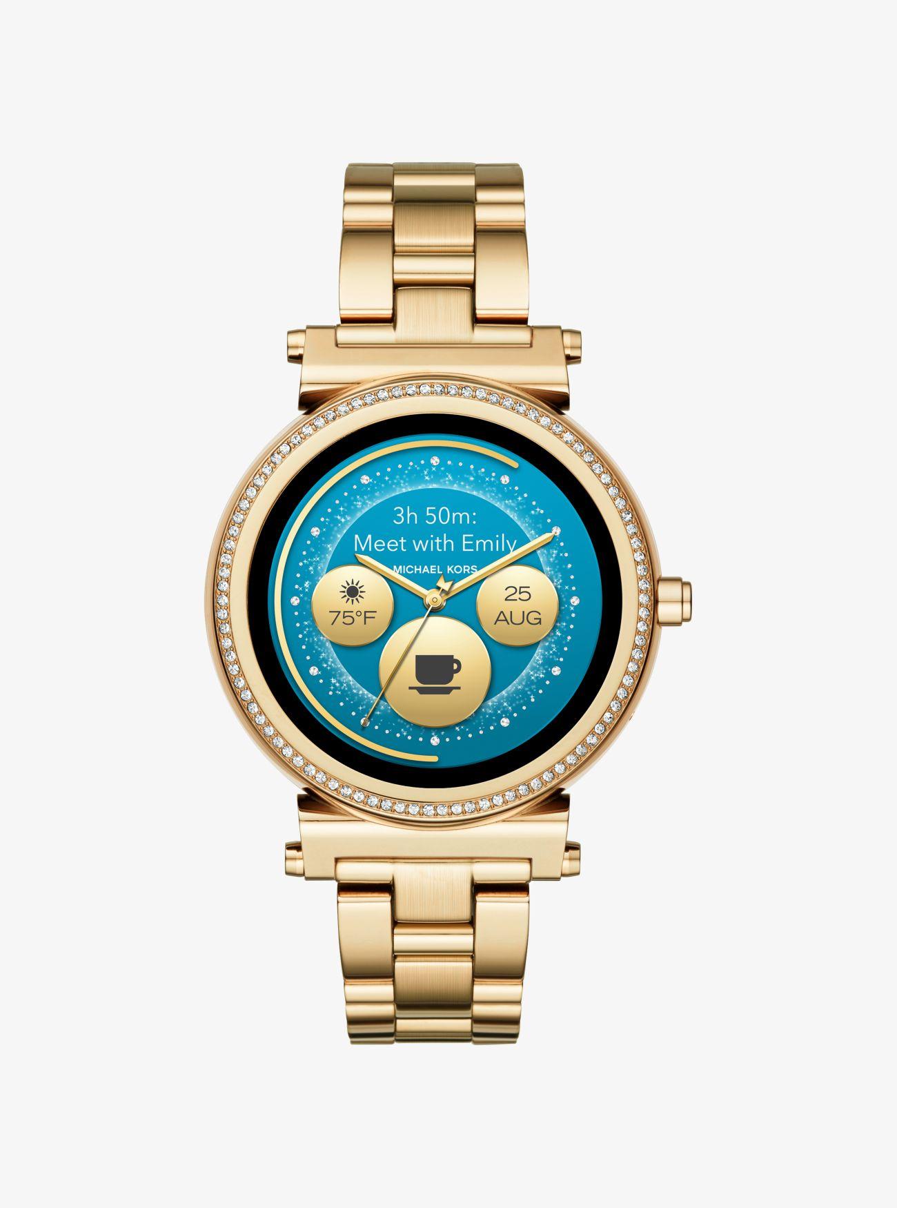 Smartwatch Sofie Tonalità Oro Con Pavé   Michael Kors 1b080118a2
