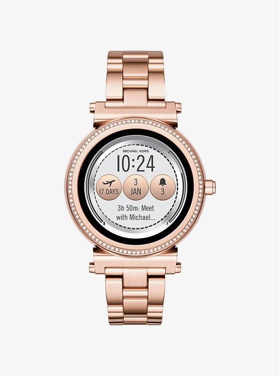Sofie Pavé Rose Gold-Tone Smartwatch
