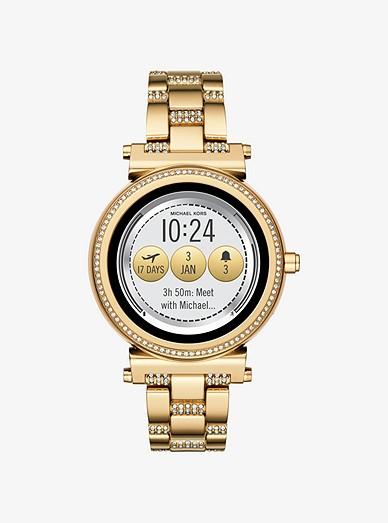 Sofie Pavé Gold-tone Smartwatch   Michael Kors 7420233b6c