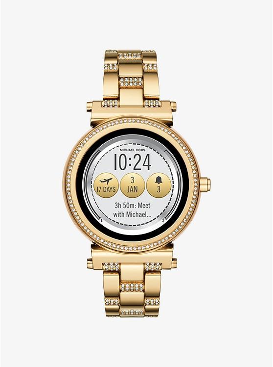 Sofie Pavé Gold-Tone Smartwatch