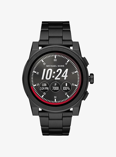 4d8a17c2a Grayson Black-tone Smartwatch | Michael Kors