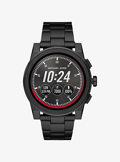 0d7b35f7de78b Grayson Black-Tone Smartwatch   Michael Kors