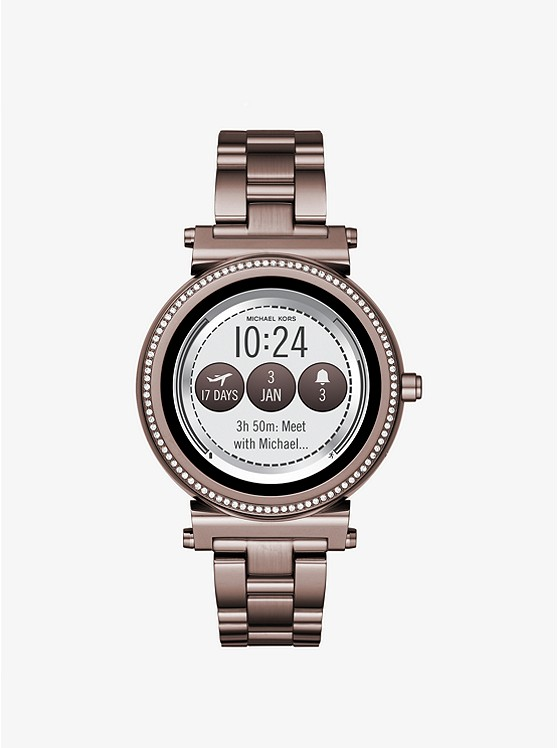 89e100c7c3f3 Sofie Pavé Sable-tone Smartwatch