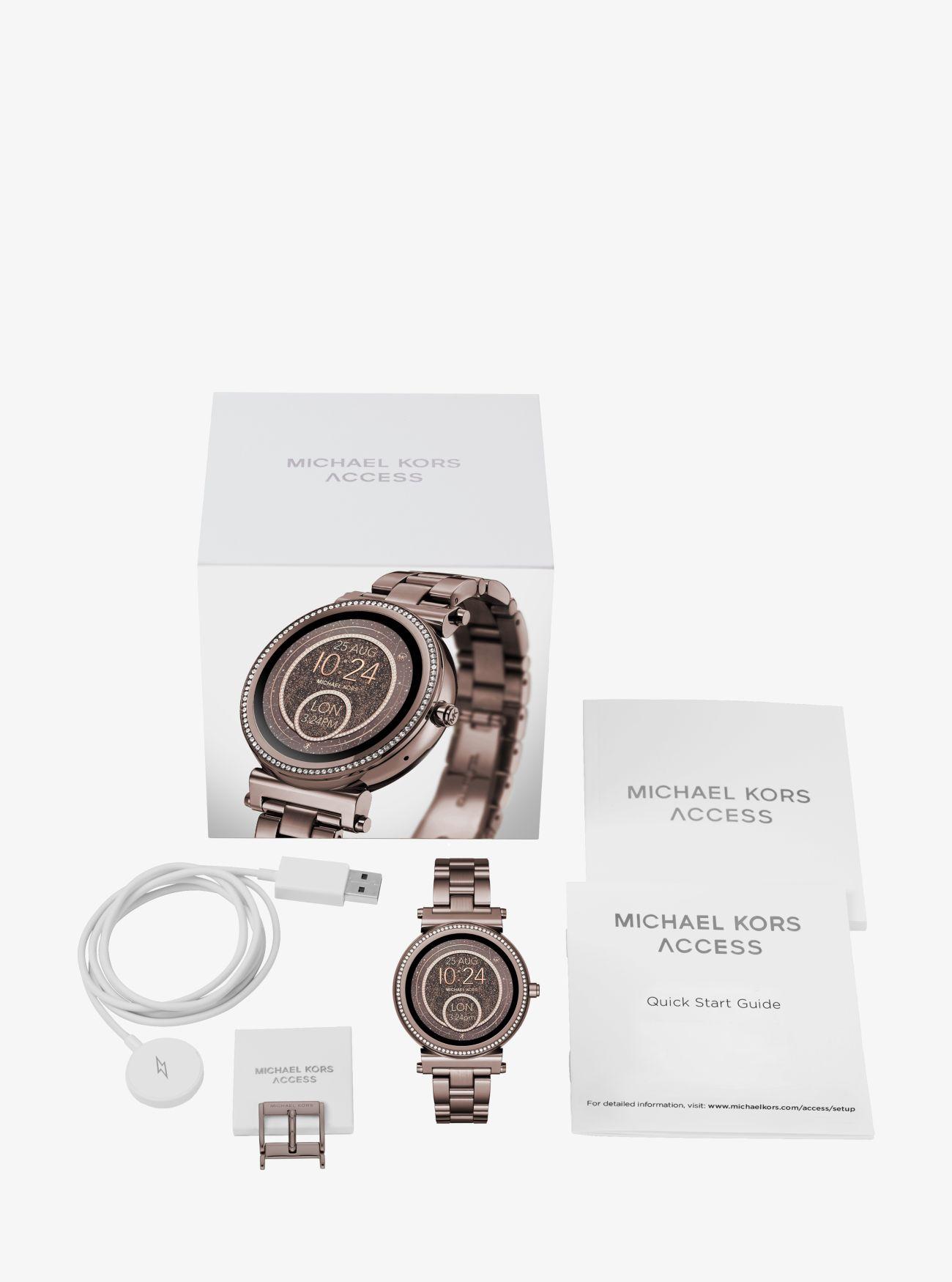 8a2e311d5648 ... Sofie Pavé Sable-Tone Smartwatch. Michael Kors Access