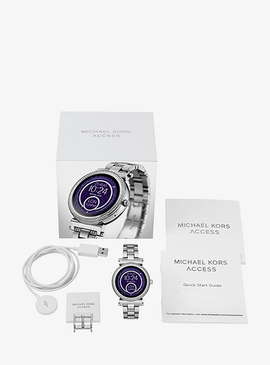 Sofie Pavé Silver-tone Smartwatch   Michael Kors 2eeedbed69