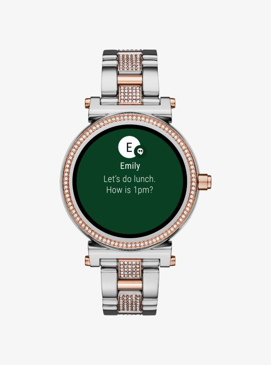 Sofie Pave Two Tone Smartwatch Michael Kors