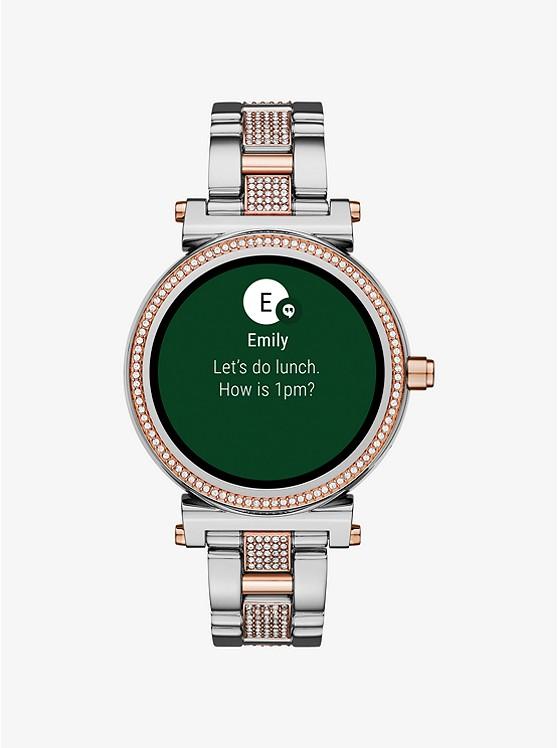 Sofie Pave Two Tone Smartwatch Michael Kors