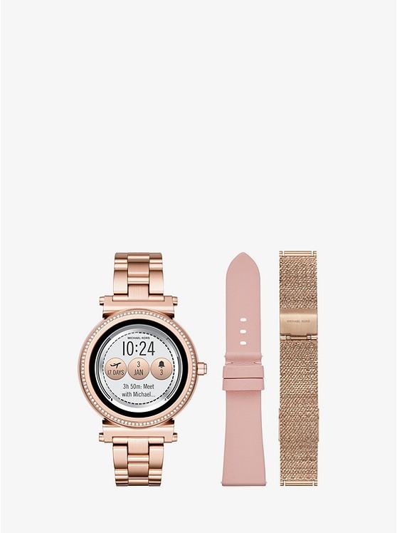 0d47b5058809 Sofie Pavé Rose Gold-tone Smartwatch Set