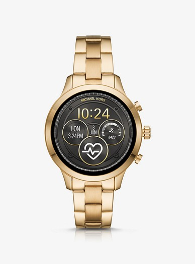 7b8a368a7a1c Runway Gold-tone Smartwatch
