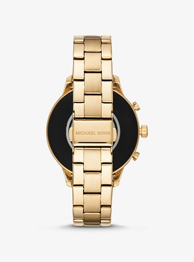 5a16a8223 Runway Heart Rate Gold-tone Smartwatch | Michael Kors