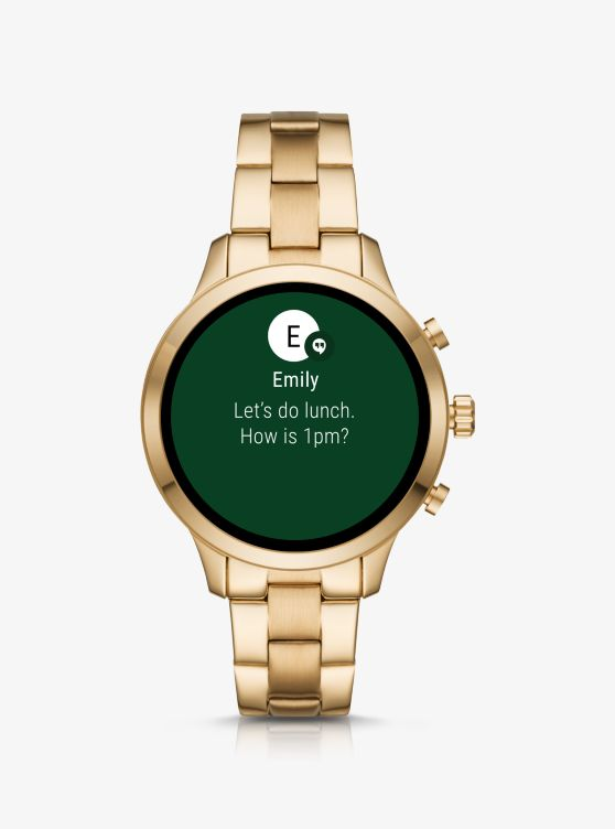 Runway Gold-Tone Smartwatch_preview3