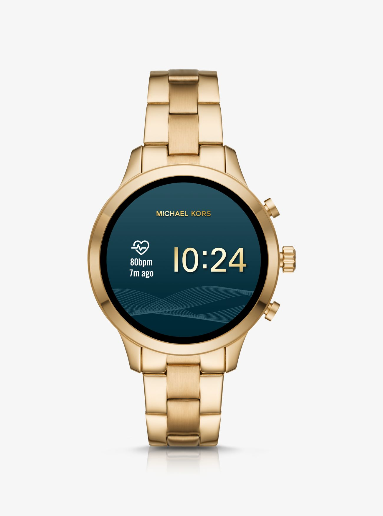 Runway Heart Rate Gold Tone Smartwatch