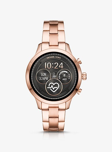 promo code 476e3 ca492 Runway Heart Rate Rose Gold-Tone Smartwatch   Michael Kors