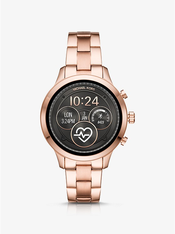 04dd43f8ff Smartwatch Runway Tonalità Oro Rosa | Michael Kors