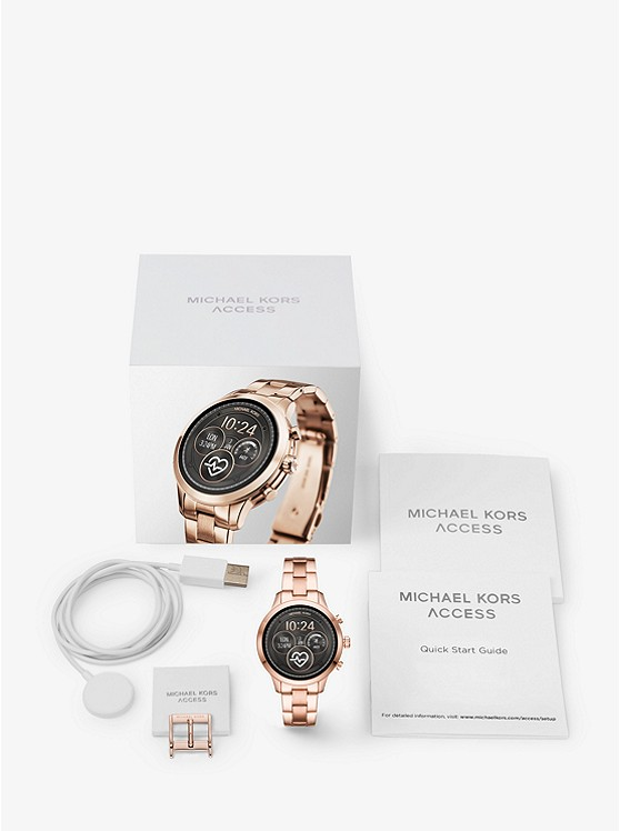 Runway Heart Rate Rose Gold-Tone Smartwatch
