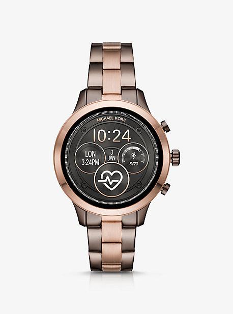 e36ba7d0079ee Runway Two-Tone Smartwatch · michael kors ...