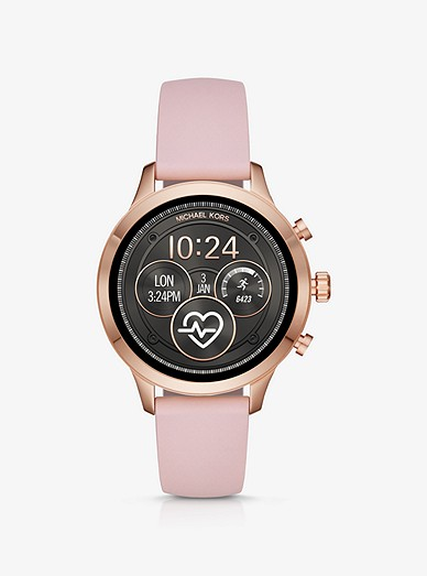 Runway Heart Rate Rose Gold Tone And Silicone Smartwatch
