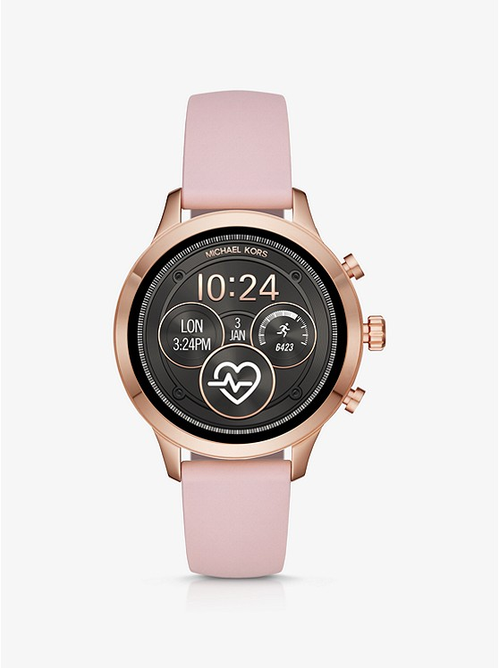 Runway Heart Rate Rose Gold-Tone and Silicone Smartwatch