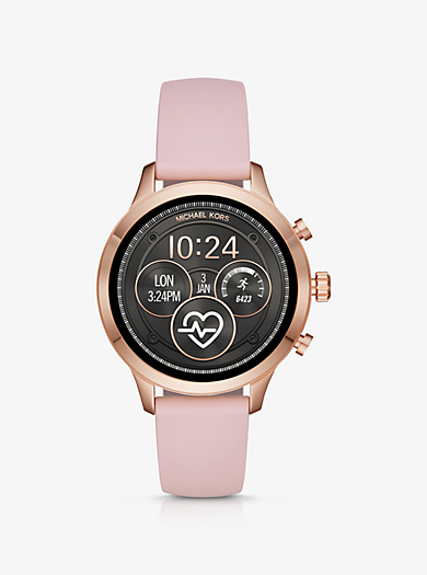 Runway Rose Gold-Tone and Silicone Smartwatch 154d9defcea0