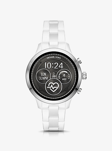 74f3eb5582b5 Runway Silver-Tone and Ceramic Smartwatch