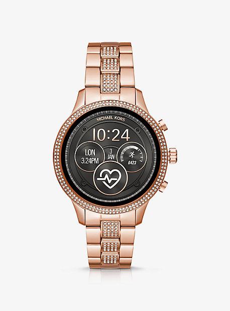 8f7b5b8280440 Runway Pavé Rose Gold-Tone Smartwatch · michael kors ...