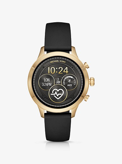 Runway Heart Rate Gold Tone And Silicone Smartwatch Michael Kors